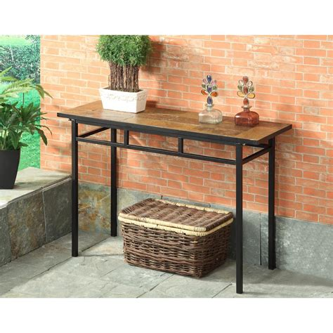 Slate Sofa Table by 4d Concepts Black Metal And Slate Console Table 601636
