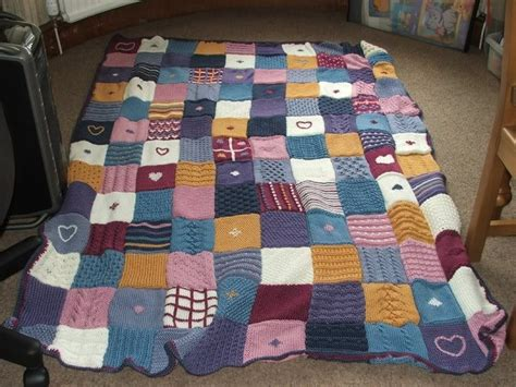 Knitting Pattern For Patchwork Blanket -