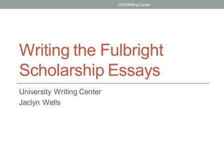 fulbright scholarship essay sle writing personal statements ppt