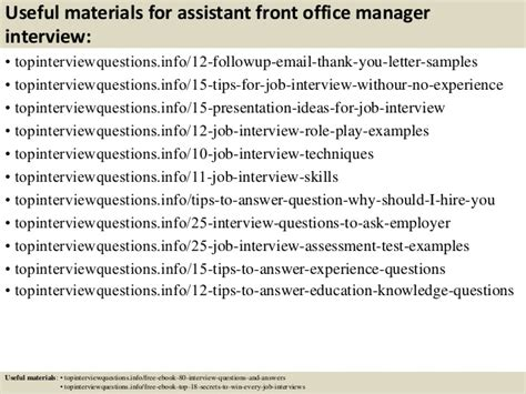 Assistant Front Office Manager by Top 10 Assistant Front Office Manager Questions And Answers