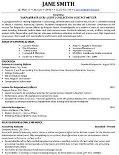 Best Accounting Resume Templates & Samples on Pinterest