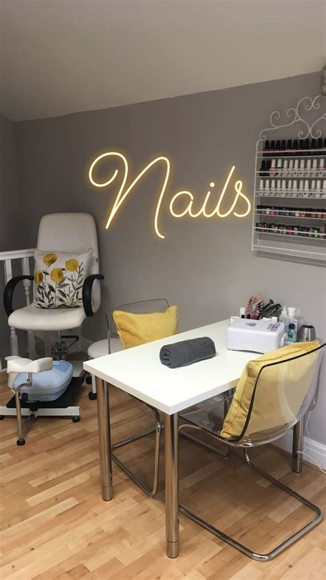 lemon  grey nail  pedicure stations   salon room