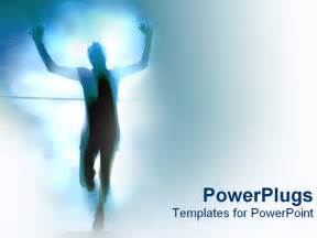 running powerpoint template powerpoint template personal race success achievement