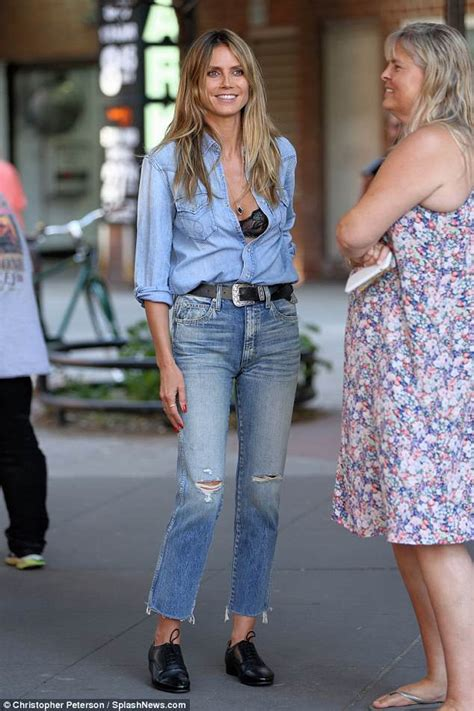 Third Day S S Nyc Vibes Black by Heidi Klum Debuts Third Of The Day In Nyc Daily