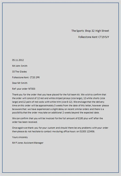 Official Letter Format From And To Typing A Letter Format Best Template Collection