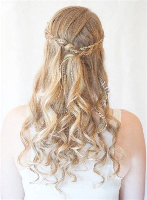 blonde hairstyles for prom prom hairstyles with brids for long curly hair half up