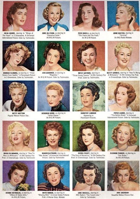 hairstyles for girl according to face shape my favorite vintage images on pinterest april edition