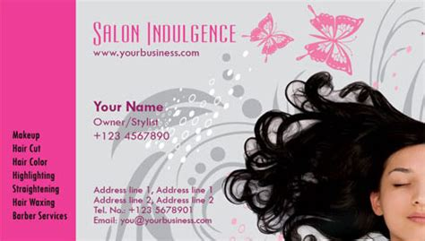 Parlour Visiting Card Templates by Photoshop Business Cards Salon