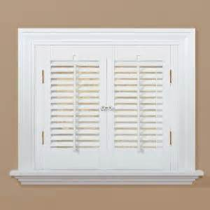 Home Depot Window Shutters Interior Homebasics Traditional Faux Wood White Interior Shutter Price Varies By Size Qsta2320 The