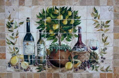 painted tile murals