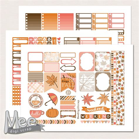 october printable planner stickers october planner stickersprintable weekly sticker kit for use