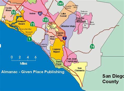 orange county california map oc vs south oc irvine orange oceanfront to buy