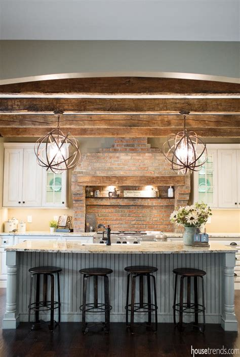 Farmhouse Island Lighting Rustic Cottage Kitchen