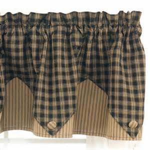 Country Style Curtains Valances Country Valance Curtains Sturbridge Black Point Valance