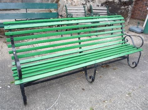 garden bench ends a large slatted garden bench with metal ends