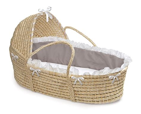 moses basket coverlet and hood badger basket co large images for natural moses basket