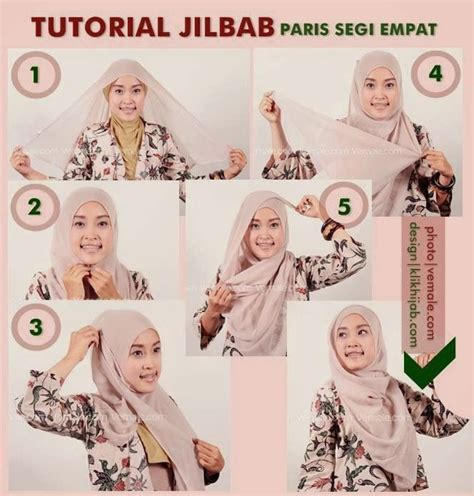 tutorial jilbab pesta simple paris 1437 best images about hijab tutorial on pinterest