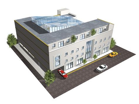 Industrial Apartments by Architectural Cgi Office Building Kildare Eamon Sinnott