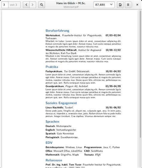 Moderncv Vorlage Bewerbungen Und Lebensl 228 Ufe Mit Und Moderncv Gestalten Linux Und Ich