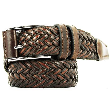 remo tulliani braided belt leather cotton for