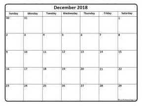 Calendar For 2018 December December 2018 Calendar December 2018 Calendar Printable