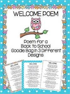 Back to school poem for kindergarten welcome back to school poem