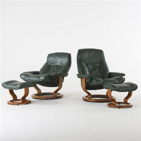 stressless ottoman price stressless adjustable lounge chairs and ottomans 2 pair by
