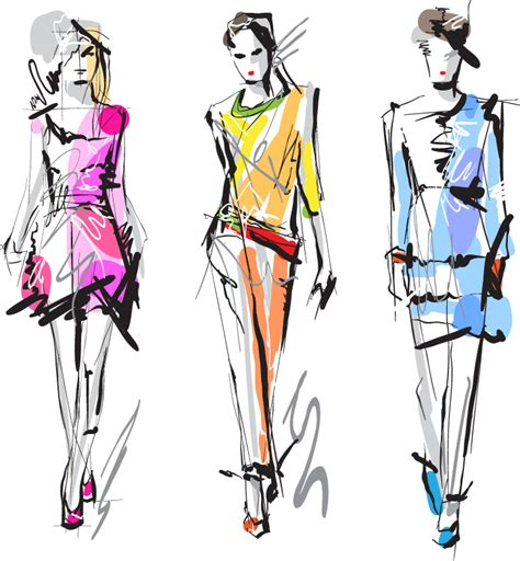 design art networks fashion girls 3 free vector graphic download