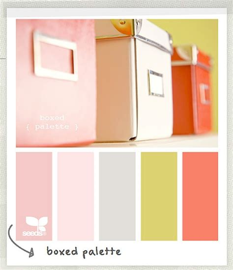 a soft coral pink and grey color palette a great color scheme for a girly office