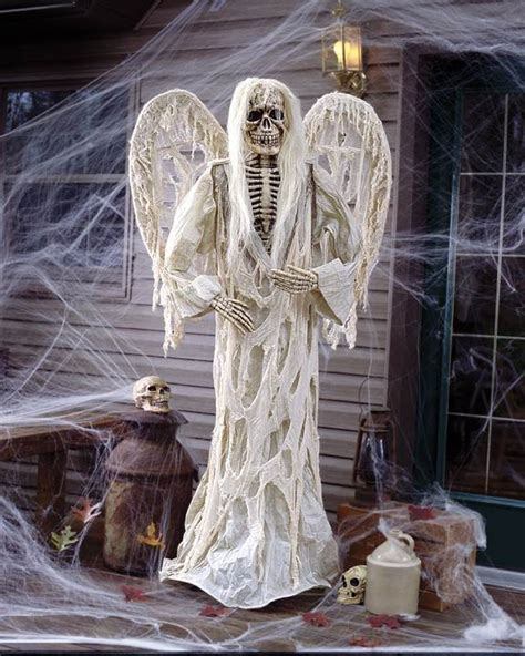life size winged gruesome greeter halloween prop