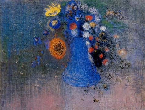 Famous Paintings Of Flowers In Vases Vase Of Flowers Odilon Redon Wikiart Org