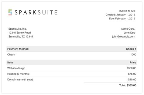 simple html receipt template github sparksuite simple html invoice template a modern