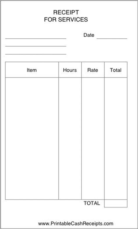 receipt template for services rendered this simple receipt can be used by a business freelancer
