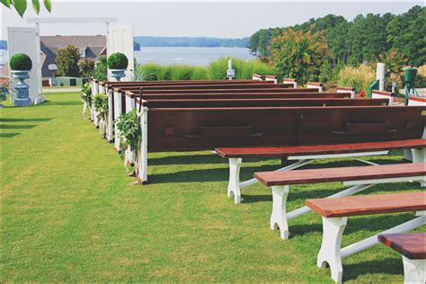 benches for rent milledgeville country club wedding crossback vineyard