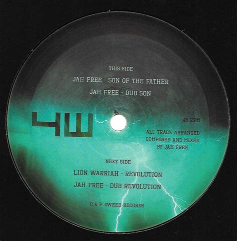 Free Record Search Uk Jah Free Of The Dub Warriah Revolution Dub Revolution 4weed