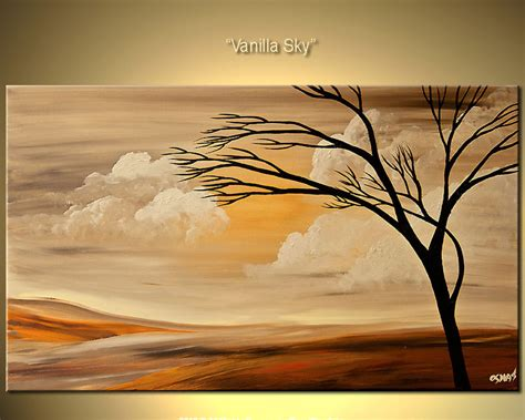 32 quot x20 quot print stretched embellished modern landscape by osnat ebay