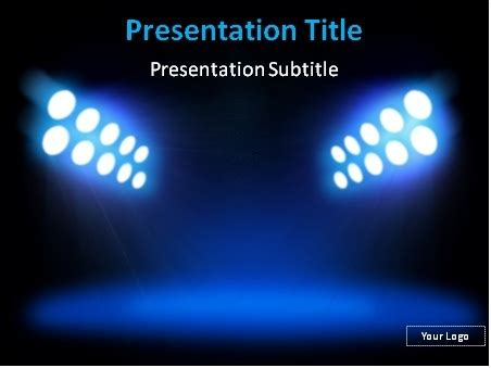 Download Stadium Lights Powerpoint Template Spotlight Powerpoint Template