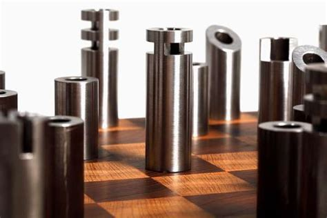 futuristic chess set post modern cylindrical chess sets modern chess set