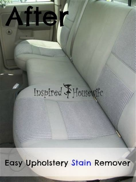 Car Upholstery Stain Remover by 10 Excellent Diy Car Cleaning Tutorials Nifty Diys