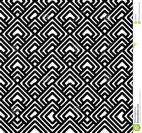 Moorish Design by Geometric Black Amp White Pattern Royalty Free Stock Photo