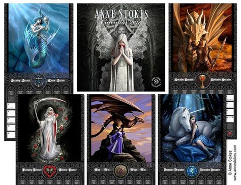 anne stokes official 2018 1847577768 anne stokes official 2017 quot the realms quot 16 month wall calendar lee s dragon dreams