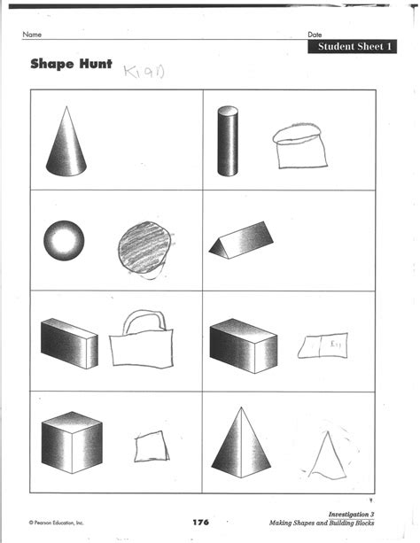Drawing 3d Shapes Worksheet by Drawing 3d Shapes Worksheet Pencil Drawing