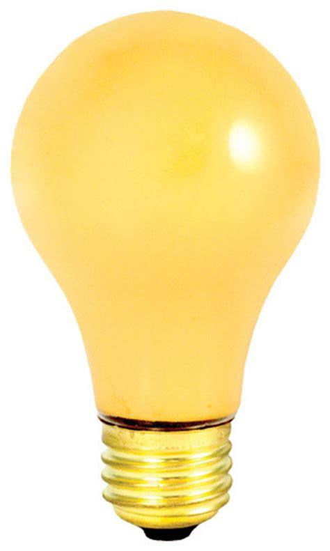 Outdoor Bug Light Bulbs Bulbrite 25 Watt Incandescent A19 Outdoor Bug Light Medium Base Yellow Traditional