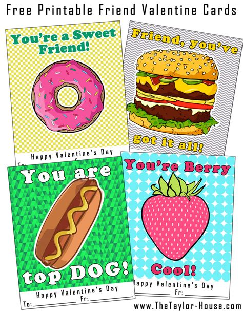 printable card for friend free printable friend valentine cards the taylor house
