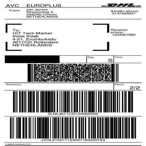 Dhl Parcel Shipping With Print Label Prestashop Addons Dhl Shipping Label Template
