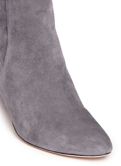 gray suede boots cole haan barnard suede knee high boots in gray lyst
