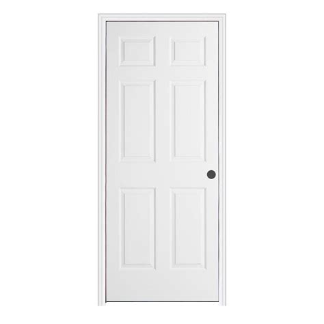 Split Jamb Interior Doors Jeld Wen 32 In X 80 In Woodgrain 6 Panel Primed Molded Split Jamb Single Prehung Interior Door