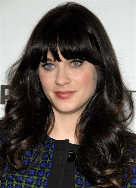 bangs with long ccurly hair 27 zooey deschanel hairstyles pictures of zooey s