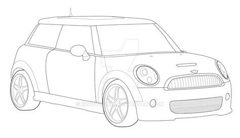 mini car coloring page pin mini cooper digital drawing on pinterest