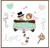 Just Married In Minze 13 St&252ck ClipArt Set